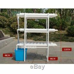 108 Holes Hydroponic Grow Pipe Set Garden Balcony Growing Planting System NFT