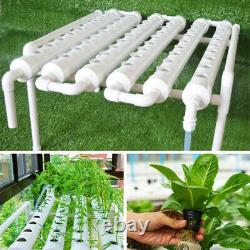 110-220V 54 Holes Hydroponic Piping Site Grow Kit Deep Water Culture Planting