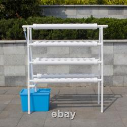 110-220V Hydroponic Grow Kit 8 Pipes 4 Layers Hydroponic 72 Holes Garden
