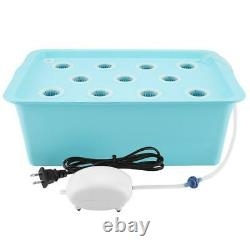 11 Holes Hydroponic System Grow Plant Flower Water Soilless Culture Box 110 Home