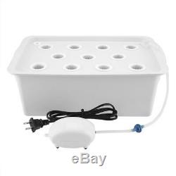 11 Holes Hydroponic System Grow Plants Water Soilless Culture Box Reusable 110V
