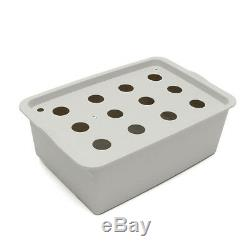 12 Hole Plant Site Hydroponic System Grow Kit Bubble Indoor Cabinet Box Garden