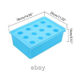 12-Hole Solar Panel Water Hydroponic System Grow Box Soilless Plant Culture