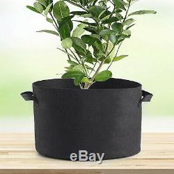 12 Pack 100 Gallon Fabric Plant Grow Bags With Handles Durable Hydroponic System