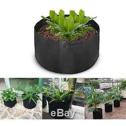 12 Pack 100 Gallon Fabric Plant Grow Bags With Handles Garden Hydroponic System