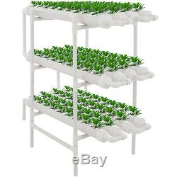 12 Pipes 3 Layers 108 Plant Sites Hydroponic Grow Kit Herbs Lettuce Culture