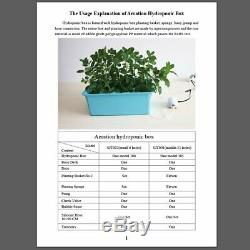 220V Hydroponic Grow Box 9 Holes DWC Indoor Aerobic Soilless Cultivation System