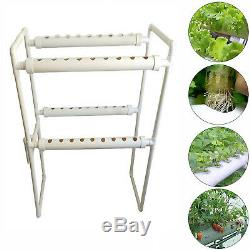 2 Layers 36 Plant Site Hydroponic Site Grow Kit 4 Pipe Hydroponic Growing System