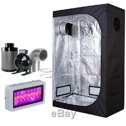 300W LED Grow Light +36''x20''x63'' Grow Tent+4 Inline Fan Filter Ducting Combo
