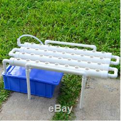 36 Holes Hydroponic Piping Site Grow Kit DIY Horizontal Flow DWC Deep Water