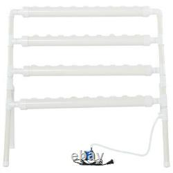 36 Holes Water Culture Piping Site Plant System Grow Kit Hydroponic Rack UK 110