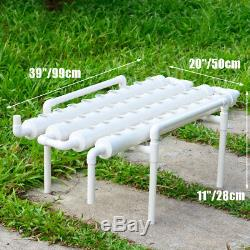 36 Plant Sites 4 Pipes 1 Layer White Hydroponic Grow Kit Plant Vegetable 1
