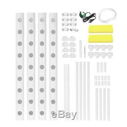36 Plant Sites 4 Pipes 1 Layer White Hydroponic Grow Kit Plant Vegetable Hot