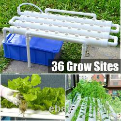 36 Planting Sites Hydroponic Grow Kit 4 Pipes Ladder Plant Vegetable Graden Tool