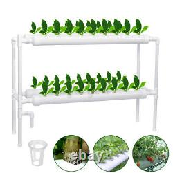 36 Site Hydroponic Plant Grow Tool Vegetable Water Hose Kit Garden System 4 Pipe