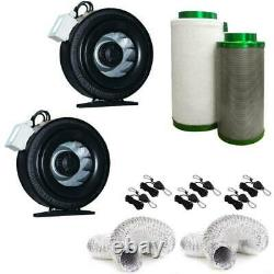 4 Inch Grow Tent Ventilation System With Centrifugal Fans + Carbon Filter