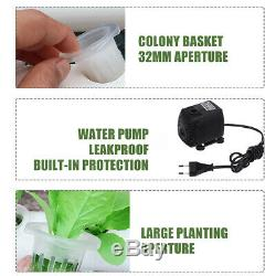 4 Pipe 36 Site Hydroponic Plant Grow Vegetable Water Pump Hose Kit Garden System