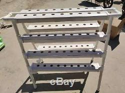 4 Tier Two Side 72 Holes Plant Growing System Vegetable Hydroponic Pipe Kit CN P