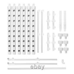54 Holes Vertical Hydroponic Piping Site Grow Kit Deep Water Culture Vegetable
