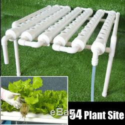 54 Planting Site Hydroponic Grow Kit Ebb Ladder System Vegetable Deep Water 220V