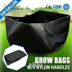 5 pcs 500 Gallon Fabric Pots Plant Pouch Root Container Grow Bag Container