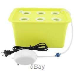 6/11 Holes Hydroponic System Grow Plant Flower Deep Water Soilless Culture Box B