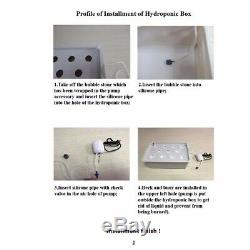 6 Holes Plant Site Hydroponic System Grow Kit Bubble Indoor Cabinet Box Garden