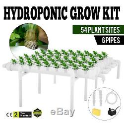 6 Pipes 1 Layer 54 Plant Sites Hydroponic Grow Kit Celery System Melons