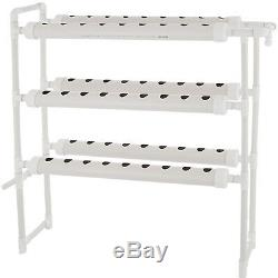 6 Pipes 3 Layers 54 Plant Sites Hydroponic Grow Kit Herbs Vegetables Garden
