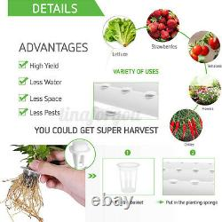 72 Holes Hydroponic Grow Tool Kit Plant 8 Pipes Vegetable Garden System 4 Layers