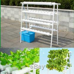72 Sites Hydroponic Site Grow Ladder Plant Vegetable Tool Kit Garden System