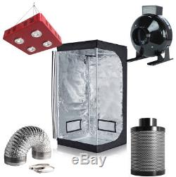 800W LED Light + Grow Tent + 4 / 6'' Inline Fan Carbon Air Filter Ducting Combo