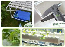 90 Sites Hydroponic Grow Kit Plant Growing System with 110V Pump-3 Rows 10 Pipes