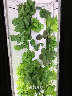 Aerospring Indoor Hydroponic System Tower, Tent, Leds, And Fan 27 Plant Grow