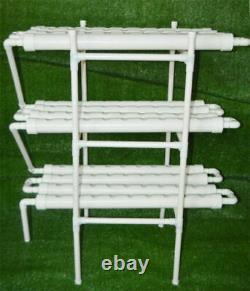 CA New 3-Layer Hydroponic Grow Kit 12 Pipes 108 Plant Site Garden Vegetable Tool