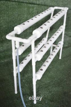 CA Stock 1PC 3-Layer Hydroponic Grow Kit Ladder Double Side 6 Pipe 54 Plant Site