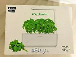 Click & Grow Smart Garden Indoor Gardening Kit Includes 3 Basil Capsules White