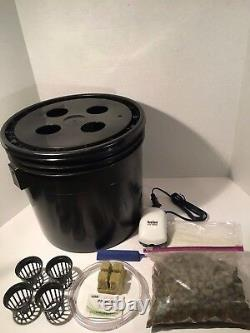 Complete Hydroponic System 4 Site DWC Hydroponic Grow Kit Bubble Bucket
