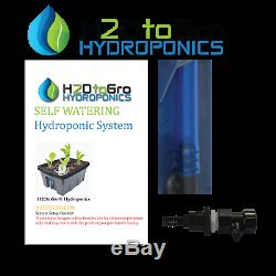 Complete Hydroponic System DWC TopFeed BUBBLER Grow kit, # 8 6-site H2OToGro
