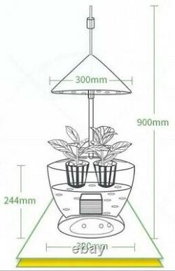 Complete Indoor Automated Grow Kit Hydroponic Planting System 55W LED Light