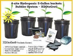 DWC 5-Gal BUCKET BUBBLER Hydroponic Plant Growing System 4 site