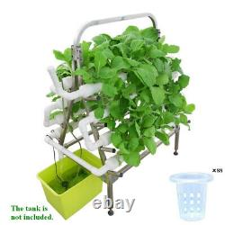 Double Side Ladder SS Holder Hydroponic 88 Sites Grow Kit Garden Growing System