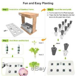 Ecoo Grower IGS-05 8 Plant Sites Spots Hydroponic System Growing Kit, LED Grow