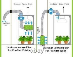 Extraction System Fox RVK Fan Combi Ducting Filter Kit Hydroponics Grow Tent