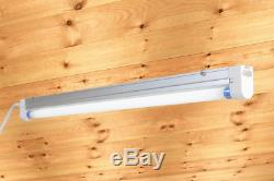 Grow Light 1 Bulb System Fluorescent Hydroponic Indoor Fixture Bloo 2 Pack
