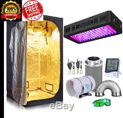 Grow Tent Complete Kit 600W LED Grow Light + Carbon Filter Combo + Filter Exhaus