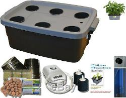 Hydroponic DWC BUBBLER Complete Grow system # 10 H2OtoGro 4 or 6 site