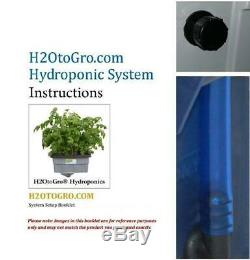 Hydroponic DWC Plant Growing BUBBLER cloner 6-site with LED grow lite H2OtoGro