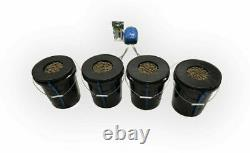 Hydroponic Deep Water Culture 4 Plant Bucket Grow System Kit Complete w Bubble