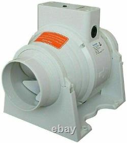 Hydroponic Grow Fan Inline Air Extractor Carbon Filter Duct 4 5 6 8 10 12